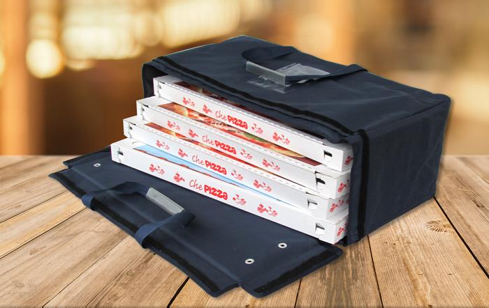 2 posti CBI Portapizza Termico trasportino 2 posti Oppure 4 posti Contenitore Box Trasporto Pizza